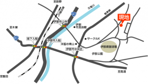 土地 B-08 伊那市中央(伊那野球場近く)