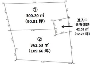土地 B-51 上伊那郡箕輪町 分譲地 残り2区画